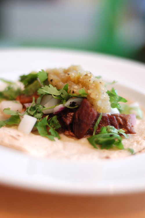 for some friends and had some leftover carnitas carnitas taco